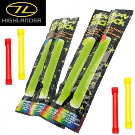 BATONS FLUORESCENTS GLOW STICKS TWIN PACK