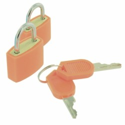 CADENAS CLE PLASTIC COATED PADLOCKS 20MM
