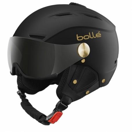 CASQUE SKI BACKLINE VISOR SOFT BLACK & GOLD 59-61