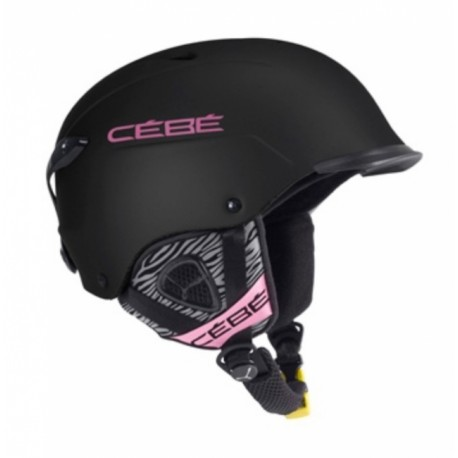 CASQUE SKI CONTEST VISOR MATT BLACK PINK ZEBRA 55-58