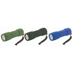 LAMPE TORCHE 9 LED RUBBER TORCH