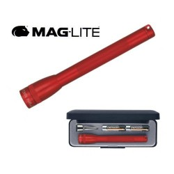 LAMPE TORCHE MAGLITE SUPER-MINI ROUGE