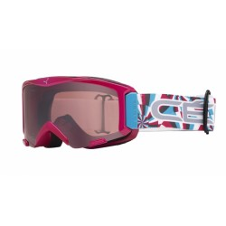 MASQUE SKI ENFANT SUPER BIONIC PINK CIRCLES FLASH MIRROR