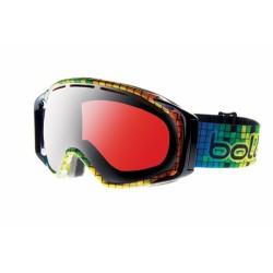 MASQUE SKI GRAVITY BLACK MOSAIC VERMILLON GUN