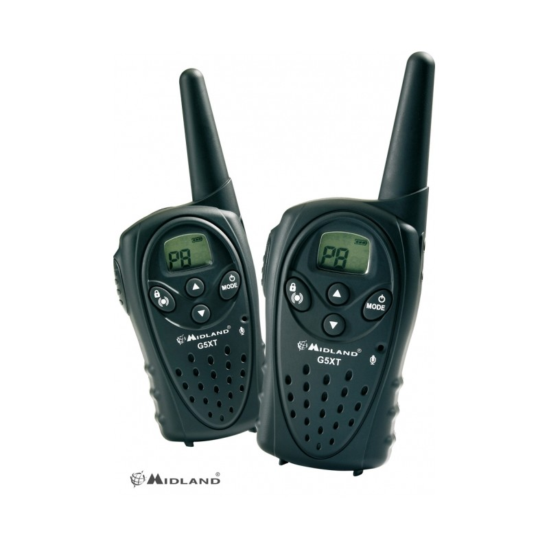 Talkie walkie midland g5 xt achat de talkie walkies montagne - Talkie walkie professionnel longue portee ...