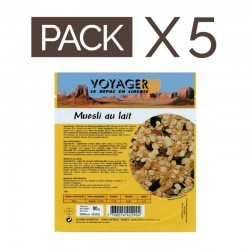 PACK 5 MUESLIS POCKET AU LAIT LYOPHILISES 80g