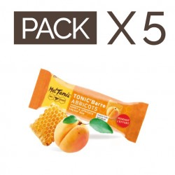 PACK 5 BARRES ENERGETIQUES TONIC BARRE ABRICOTS