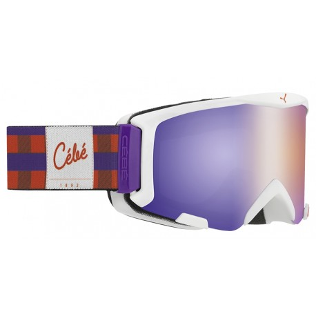MASQUE SKI ENFANT SUPER BIONIC VIOLET SQUARE BROWN FLASH