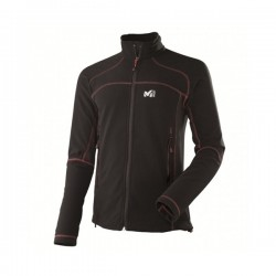 VESTE POLAIRE HOMME VECTOR GRID JACKET (NOIR ZIP ROUGE)