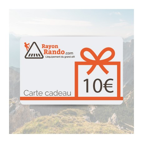 CARTE CADEAU 10 - RAYON RANDO