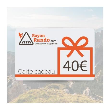 CARTE CADEAU 40 EUROS