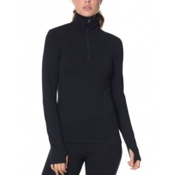 T-SHIRT LAINE MERINO FEMME 260 TECH LONG SLEEVE 1/2 ZIP TAILLE L