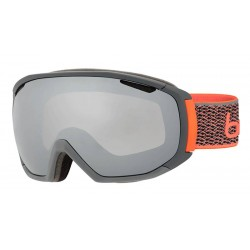 Masque de ski Tsar matte Grey 1 Neon orange black chrome