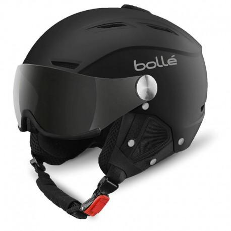 backline visor Soft Black & Silver
