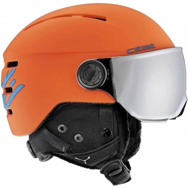 casque ski c b fireball orange blue achat de casque de. Black Bedroom Furniture Sets. Home Design Ideas