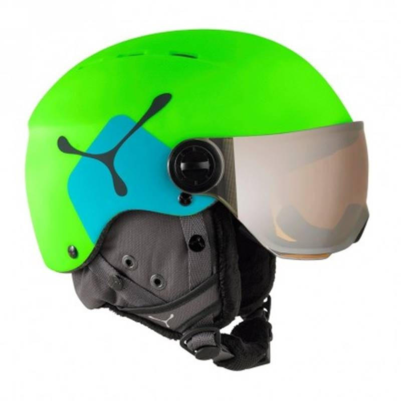 casque ski c b fireball lime blue achat de casque de. Black Bedroom Furniture Sets. Home Design Ideas