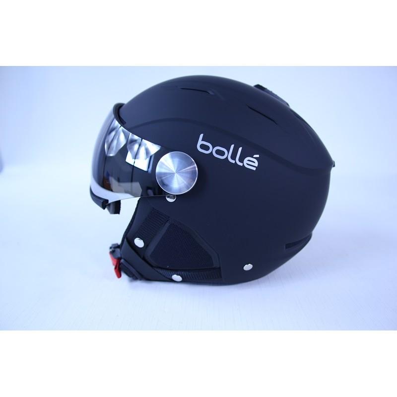 casque ski boll backline visor soft black silver 56 58. Black Bedroom Furniture Sets. Home Design Ideas