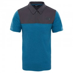T-SHIRT TECHNICAL POLO BLEU/GRIS