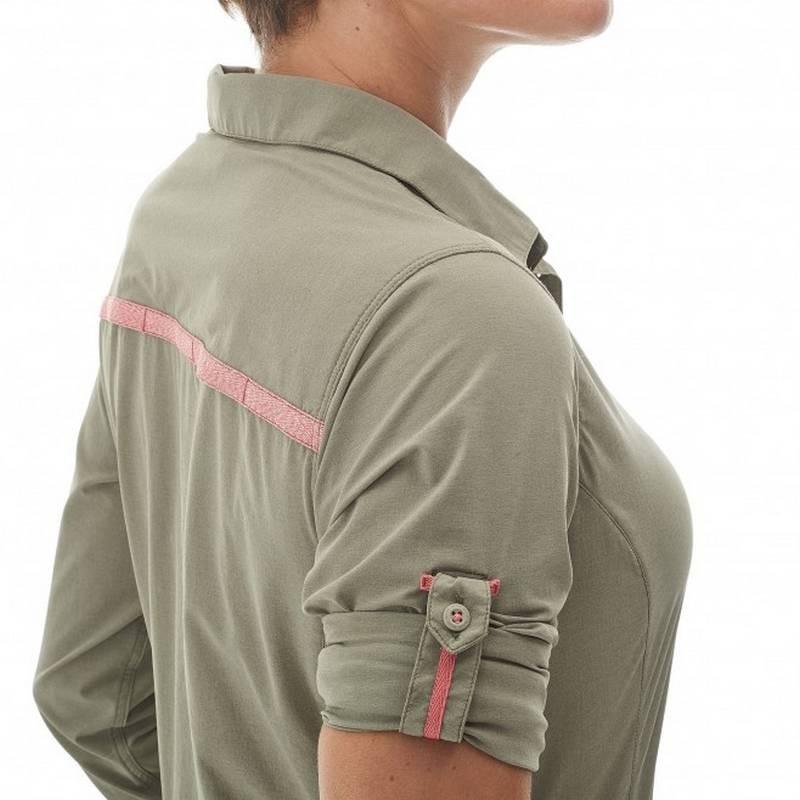 De Biwa Shirt Millet Stretch Chemise Femme Ls Kaki Randonnée OnwP8k0