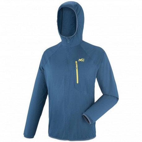 VESTE COUPE VENT HOMME LTK AIRSTRETCH HOODIE BLEU