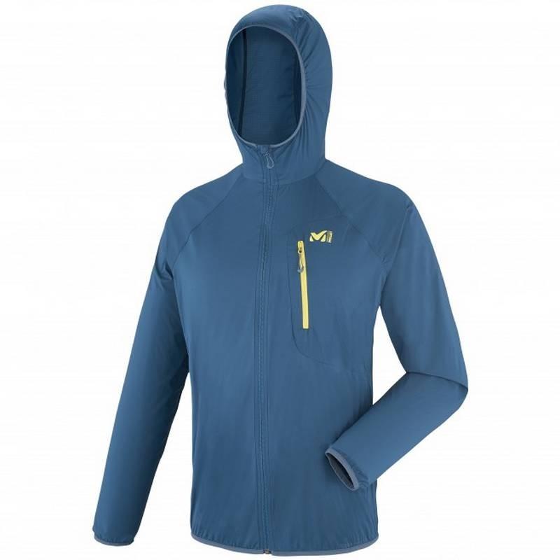 veste coupe vent homme ltk airstretch hoodie bleu millet ultra l g re et ultra compacte. Black Bedroom Furniture Sets. Home Design Ideas