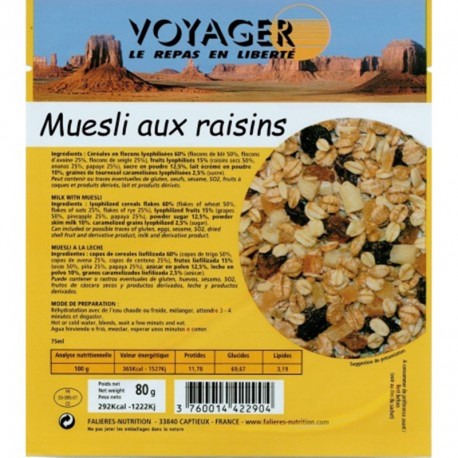 Muesli pocket aux raisins - Voyager