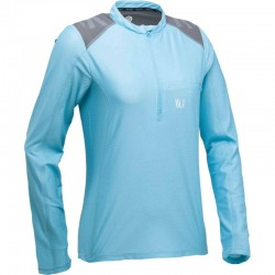 T-SHIRT TECHNIQUE FEMME TECHNICAL LS SHIRT BLEU