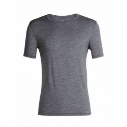T-SHIRT HOMME MERINO TECH LITE SHORT SLEEVE CREWE GRIS