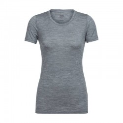 T-SHIRT FEMME MERINO TECH LITE SHORT SLEEVE GRIS