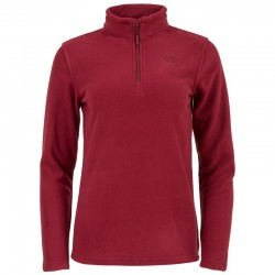 POLAIRE FEMME EMBER 1/4 ZIP FLEECE ROUGE