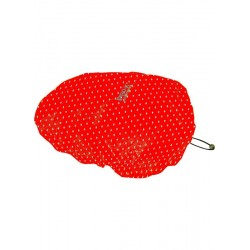 COUVRE-SELLE SADDLE COVER ROUGE A POIS