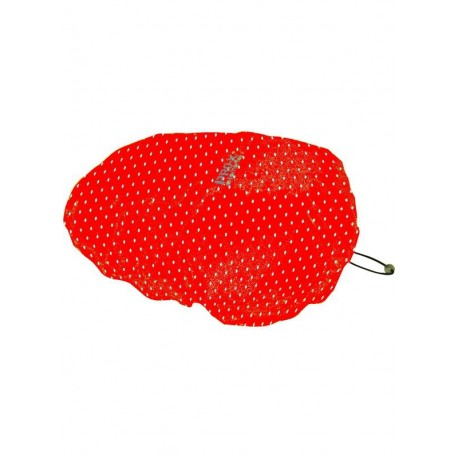 COUVRE-CASQUE HELMCOVER PRO ROUGE A POIS