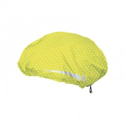 COUVRE-CASQUE HELMCOVER PRO JAUNE A POIS