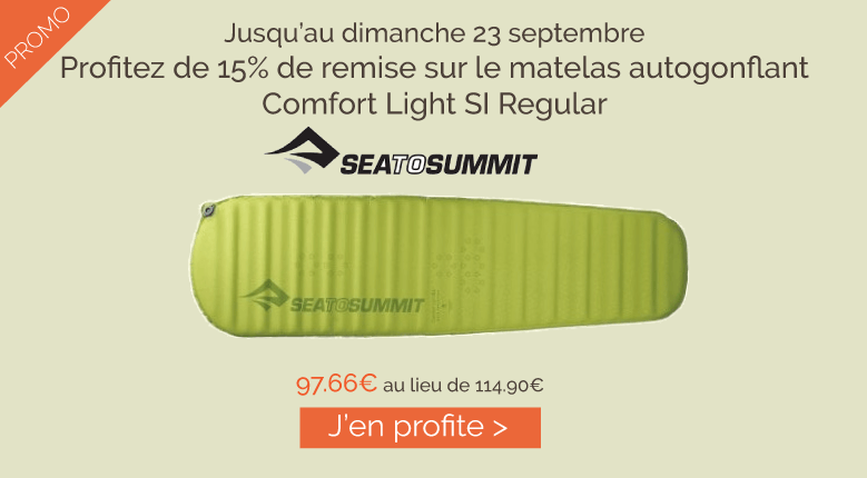 Promo 15% matelas Sea to Summit